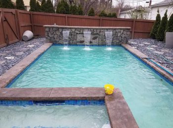 Pool & Spa With Sheer Descents