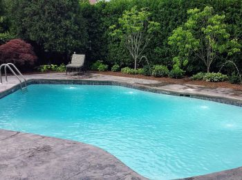 Inground Pool With Deck Jets